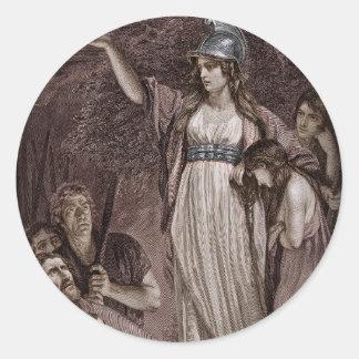 Celtic Queen Boudicicca Classic Round Sticker