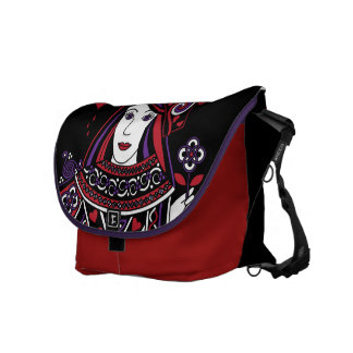 Celtic Queen of Hearts Part I Courier Bag