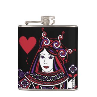 Celtic Queen of Hearts Part I Flask