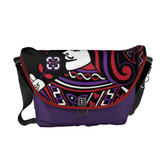 Celtic Queen of Hearts Part II The Knave of Hearts Messenger Bag