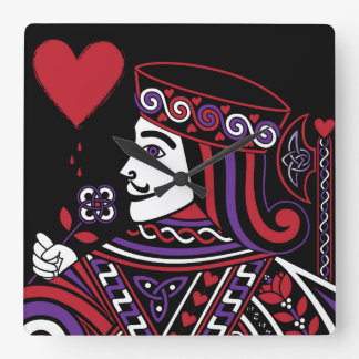 Celtic Queen of Hearts Part II The Knave of Hearts Square Wall Clock