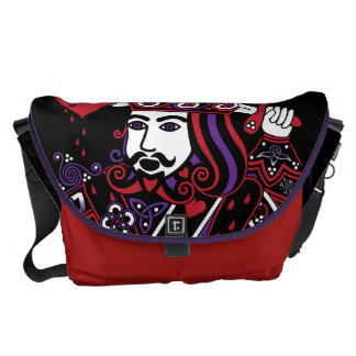 Celtic Queen of Hearts Part III The King of Hearts Messenger Bag