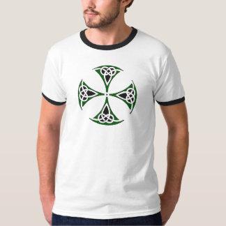 """Celtic Quest """"Slainte"""" Ringer Tshirt"""