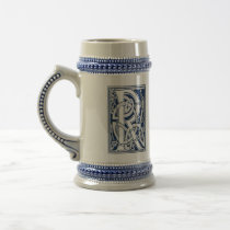 Celtic R Monogram Beer Stein