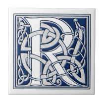 Celtic R Monogram Ceramic Tile