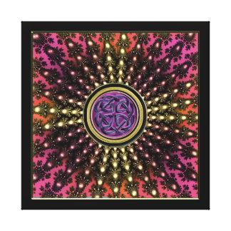 Celtic Radiant Fractal Mandala Canvas Prints