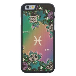 Celtic Rainbow Fractal Zodiac Sign Pisces Carved® Maple iPhone 6 Case
