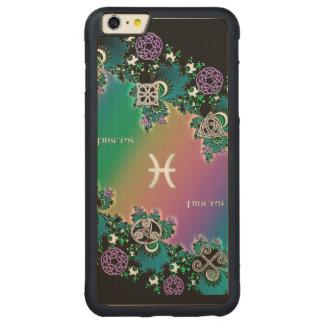 Celtic Rainbow Fractal Zodiac Sign Pisces Carved® Maple iPhone 6 Plus Bumper Case