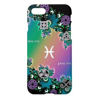 Celtic Rainbow Fractal Zodiac Sign Pisces iPhone 7 Case
