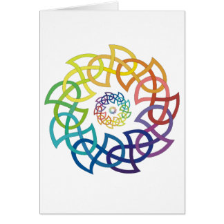 Celtic Rainbow Knotwork Rings Stationery Note Card
