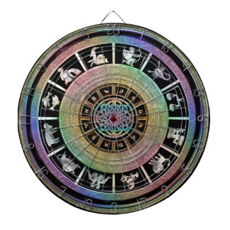 Celtic Rainbow Zodiac Mandala Dart Boards