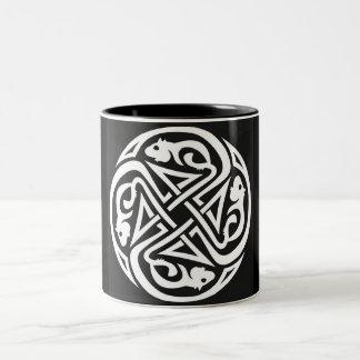Celtic Rats Circle Two-Tone Coffee Mug