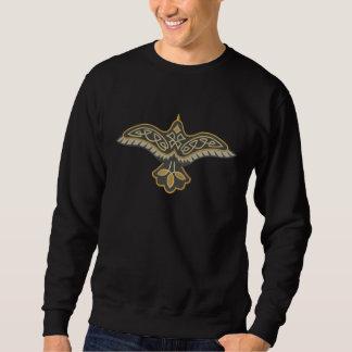 Celtic Raven Embroidered Sweatshirt
