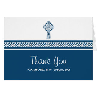 Celtic Religious Cross Thank YOu Card