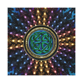 Celtic Rich Radiant Fractal Mandala Gallery Wrapped Canvas