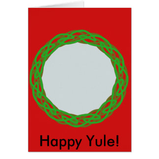 celtic ring, Happy Yule! Card