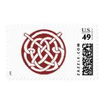 Celtic rojo Knotwork de Borgoña Franqueo