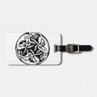 Celtic rond chien bag tag