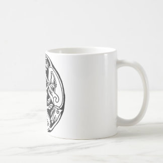 Celtic rond chien coffee mug