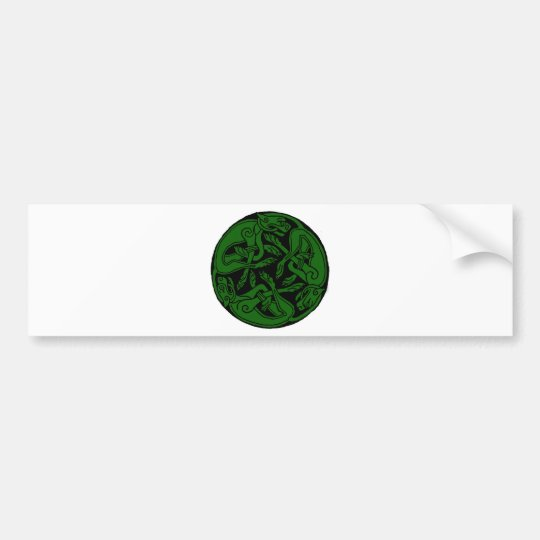Celtic rond chien green bumper sticker
