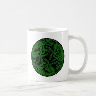 Celtic rond chien green coffee mug