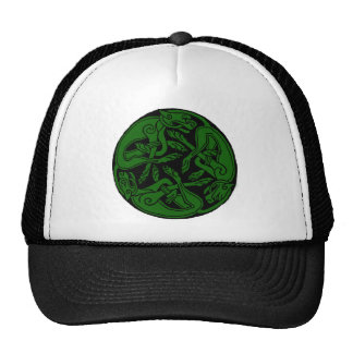 Celtic rond chien green hats