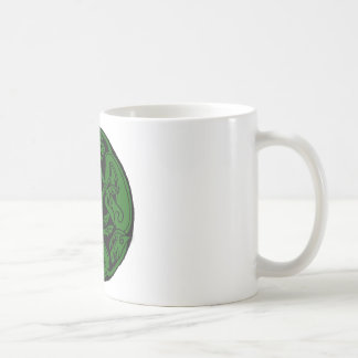 Celtic rond chien green coffee mugs