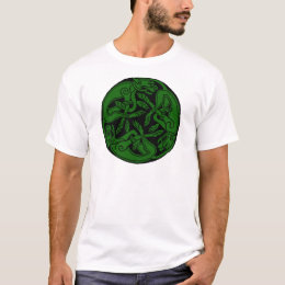 Celtic rond chien green T-Shirt