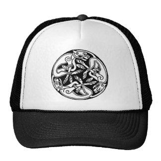 Celtic rond chien trucker hats