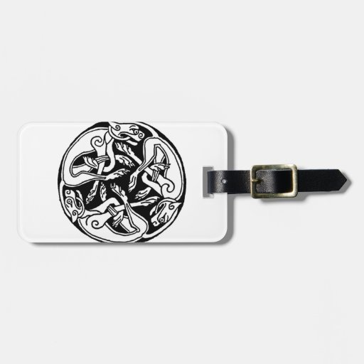 Celtic rond chien tag for luggage