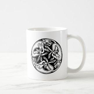Celtic rond chien mugs