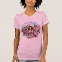 Celtic Rose Ladies Twofer shirt Meredith Dillman