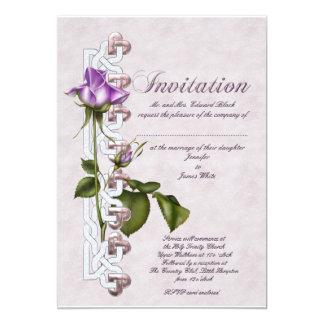 Celtic Rose Wedding Invitation
