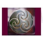 celtic round embossed triskele