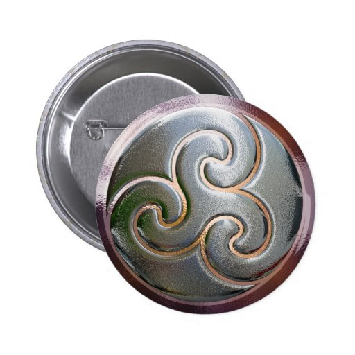 celtic round embossed triskele pins