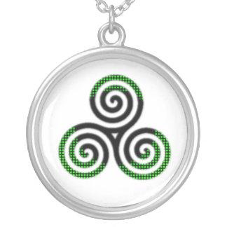 Celtic Round Pendant Necklace
