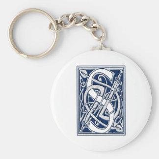 Celtic S Monogram Basic Round Button Keychain