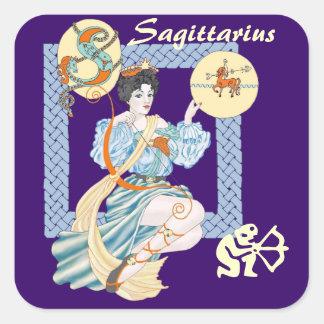 Celtic Sagittarius Square Sticker