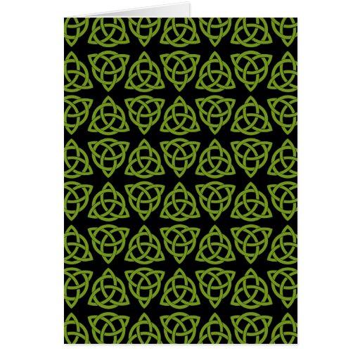 Celtic Scandi Tri Knot Design Card