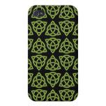 Celtic Scandi Tri Knot Design iPhone 4 Cases
