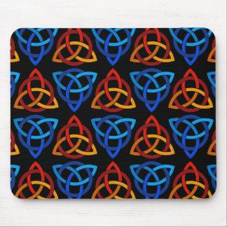 Celtic Scandi Tri Knot Design Mouse Pad