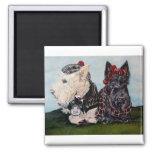 Celtic Scottish Terriers Fridge Magnets