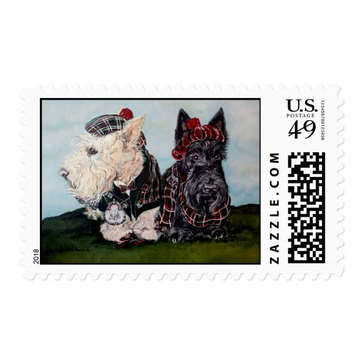 Celtic Scottish Terriers Stamps
