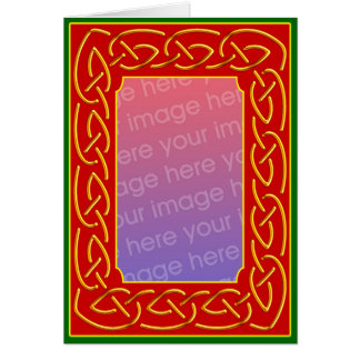 Celtic Scrollwork Personalised Greeting Card
