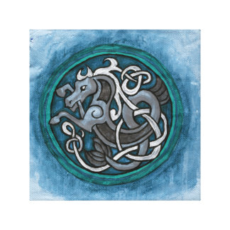 Celtic Sea Horse Canvas Print