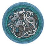 Celtic Sea Horse Classic Round Sticker