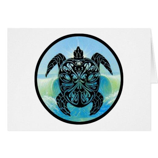 Celtic Sea Turtle Greeting Cards