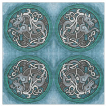 Celtic Seahorse Pattern Fabric