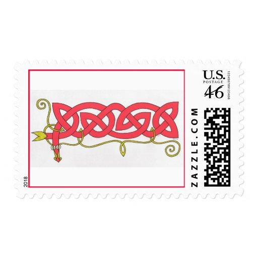 Celtic Serpent stamp