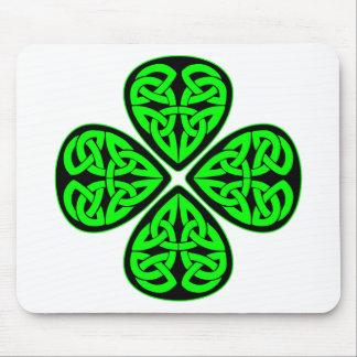 Celtic Shamrock 4 Leaf Mouse Pad